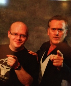 Jason Sizemore and Bruce Campbell