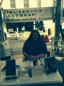 Who wouldn't buy a book from this lovely lady?