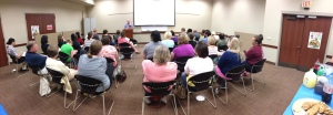 Panoramic of Preacher Sizemore laying the Gospel of Apex on the attendees (pic credit: Bobby Webb)