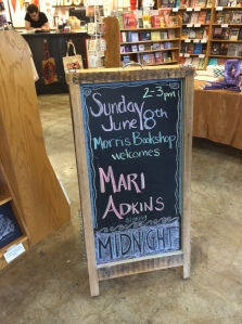 The Morris Book Shop knows how to handle their chalk.