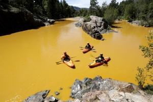 That's not toxic water, that's orange Kool-Aid!